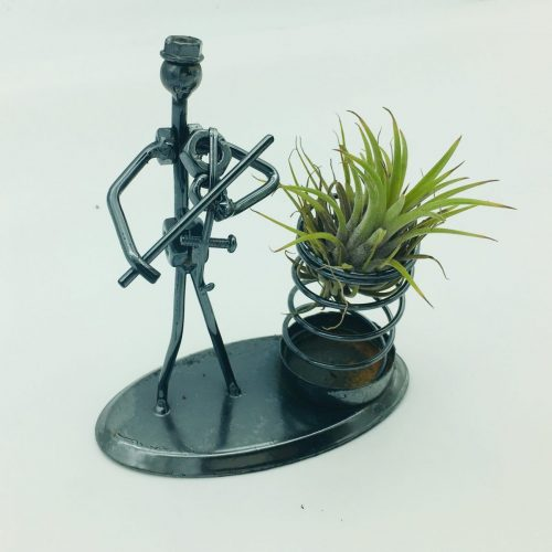air plant with steel man