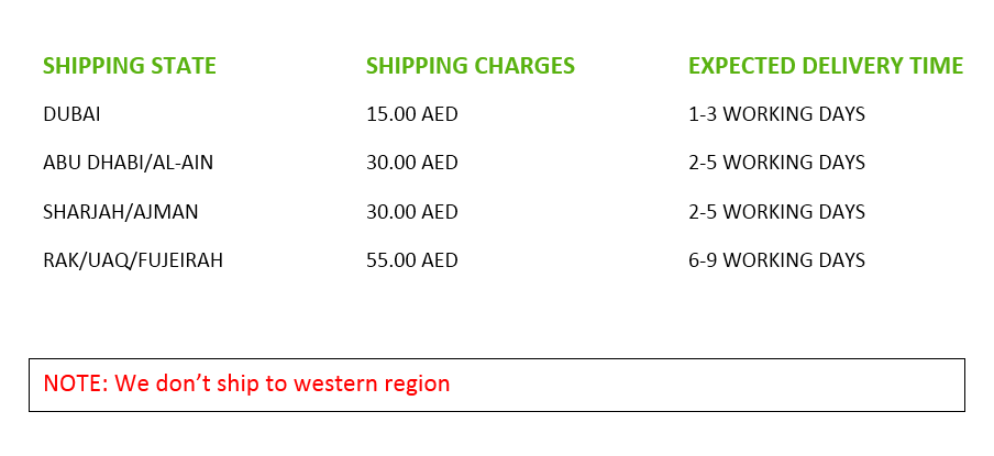 Shipping charges greensouq