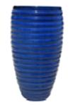 Dark Blue Ribbed Jar