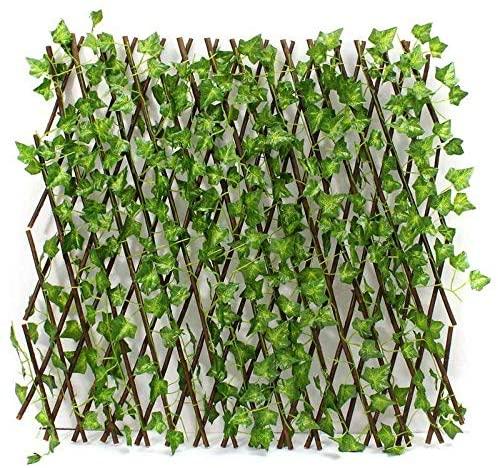 Bamboo garden fence with a medium sized vegetable garden
