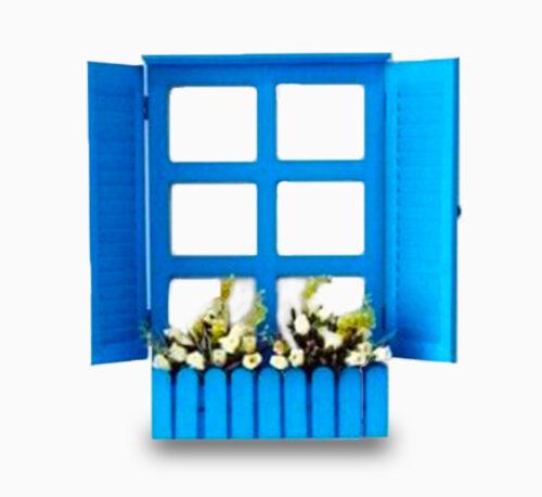 Handmade Blue Royal Window Planter