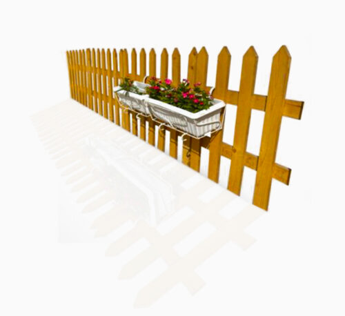 Handmade Cut Shape Wooden Fence