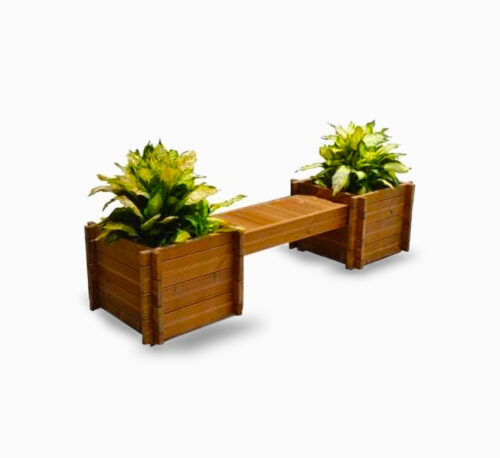 Handmade Jadn Planter Bench