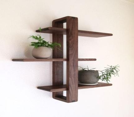 Handmade Alza Wall Planter Shelf
