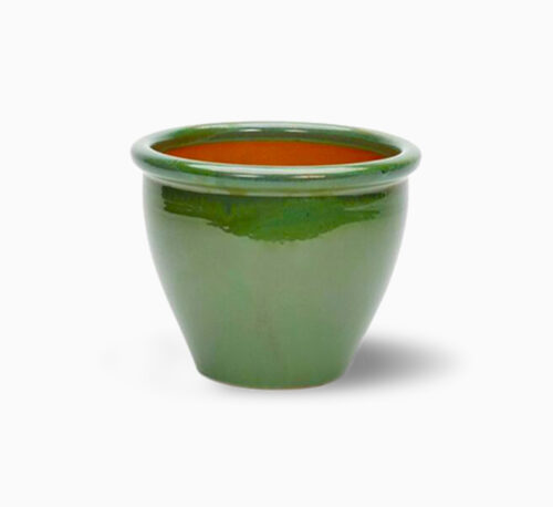 Green Rolled Rim Pot