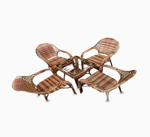 Blue River Rattan Wicker Table and Chair Set