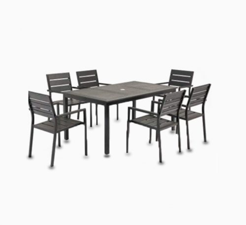 6-Seater Aluminum Dinning Set With Cushion