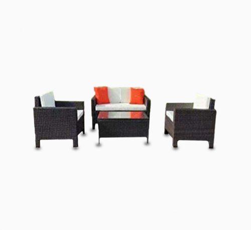 4pcs Outdoor PE Rattan Wicker Sofa
